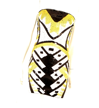 sequin aztec Christmas Party Dress