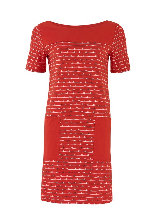 faye pocket dress in red ribbon print 97ae1d8e1bfb Ethical Fashion Offers   July 2014