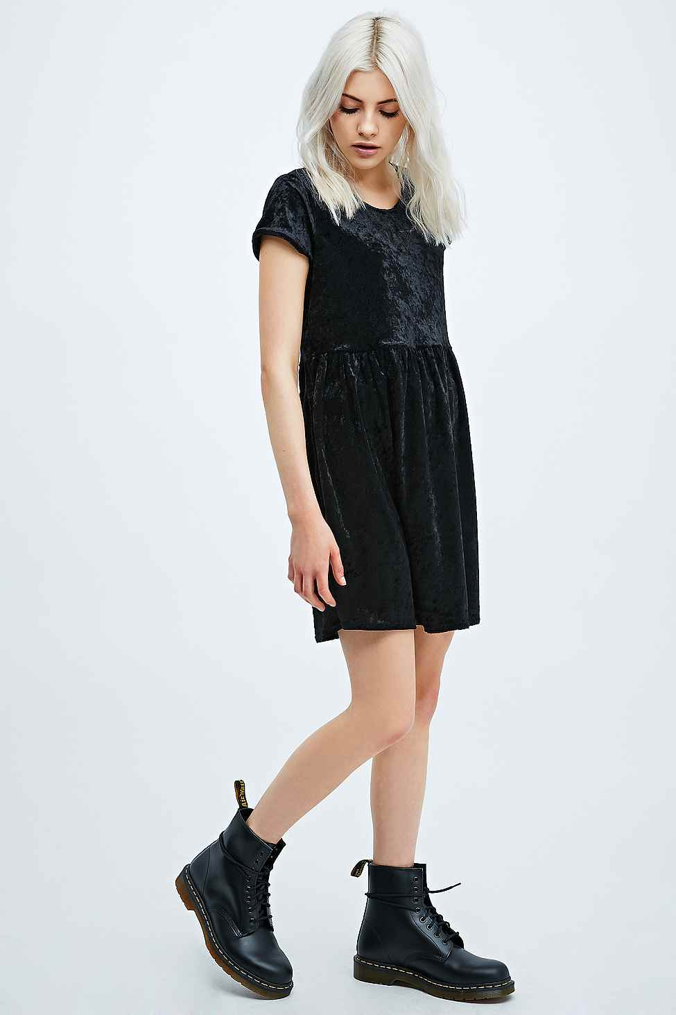 Urban Renewal Velvet Baby Doll Dress