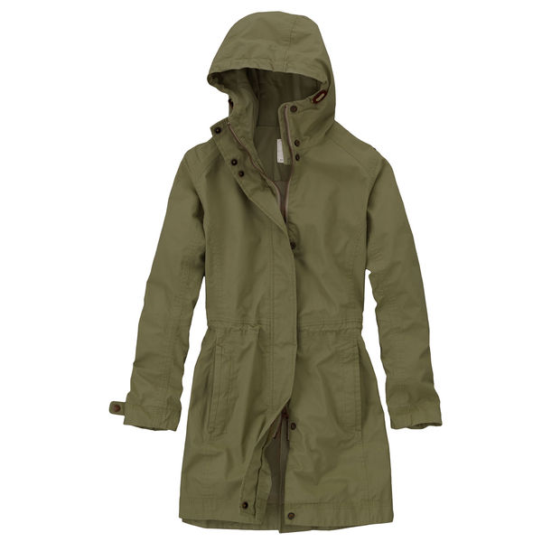 Timberland waterproof canvas long shell jacket