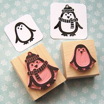 penguin stamp Make Your Own Wrapping Paper