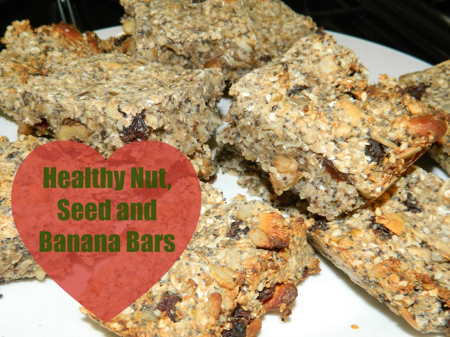 Healthy Nut Seed and Banana Snack Bars