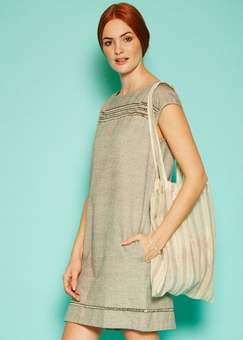 martha embroidered dress in grey dc2cc077a38d Fair Trade Fashion for Fairtrade Fortnight